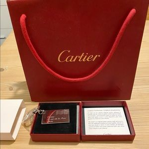 Cartier Authentic Letter Silver Keychain